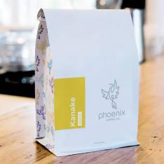 Bag of whole bean Kanake: Kenya coffee, roasted by Phoenix Coffee Co.