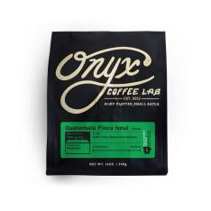 Bag of whole bean Guatemala Finca Isnul coffee, roasted by Onyx Coffee Lab