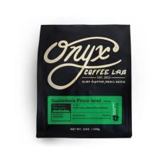 Bag of whole bean Guatemala Finca Isnul coffee, roasted by Onyx Coffee Lab