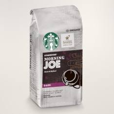 Bag of whole bean Morning Joe coffee, roasted by Starbucks