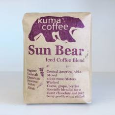 Bag of whole bean Sun Bear Iced Coffee Blend coffee, roasted by Kuma Coffee