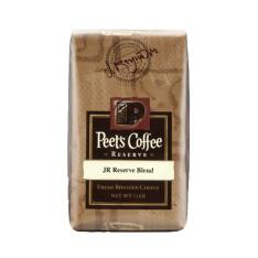 Bag of whole bean JR Reserve Blend® coffee, roasted by Peet's Coffee