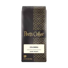 Bag of whole bean Colombia coffee, roasted by Peet's Coffee