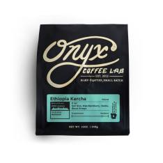 Bag of whole bean Ethiopia Kercha coffee, roasted by Onyx Coffee Lab
