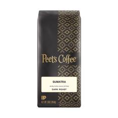 Bag of whole bean Sumatra coffee, roasted by Peet's Coffee