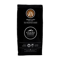 Bag of whole bean Grizzly Claw coffee, roasted by Kicking Horse Coffee