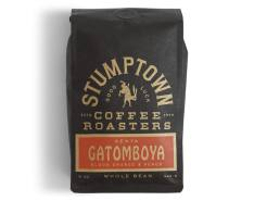 Bag of whole bean Kenya Gatomboya coffee, roasted by Stumptown Coffee Roasters