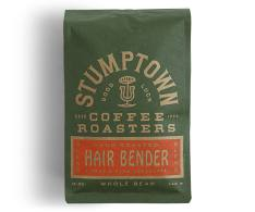Bag of whole bean Hair Bender coffee, roasted by Stumptown Coffee Roasters