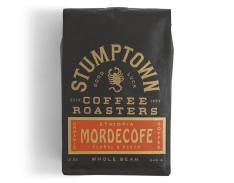 Bag of whole bean Ethiopia Mordecofe coffee, roasted by Stumptown Coffee Roasters