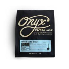 Bag of whole bean Cold Brew coffee, roasted by Onyx Coffee Lab