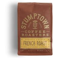 Bag of whole bean French Roast coffee, roasted by Stumptown Coffee Roasters