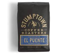 Bag of whole bean Honduras El Puente coffee, roasted by Stumptown Coffee Roasters