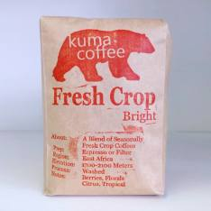 Bag of whole bean Fresh Crop Blend - Bright coffee, roasted by Kuma Coffee
