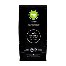 Bag of whole bean Kick Ass® coffee, roasted by Kicking Horse Coffee