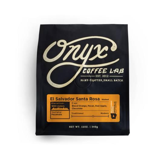 Bag of whole bean El Salvador Santa Rosa Washed coffee, roasted by Onyx Coffee Lab