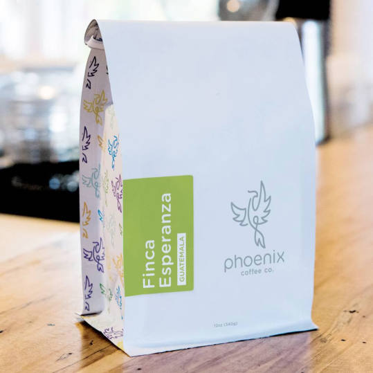 Bag of whole bean Finca Esperanza: Guatemala coffee, roasted by Phoenix Coffee Co.
