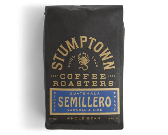 Bag of whole bean Guatemala Semillero coffee, roasted by Stumptown Coffee Roasters
