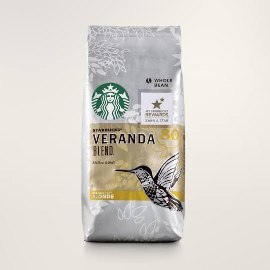 Bag of whole bean Veranda Blend® coffee, roasted by Starbucks