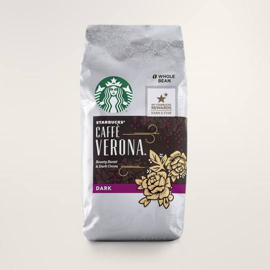 Bag of whole bean Caffè Verona® coffee, roasted by Starbucks