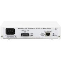 Rear: FC7000: 10/100BaseT to 100BaseFX Ethernet Media Converter