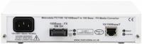 Rear: FC7100: 10/100BaseT to 100BaseFX Ethernet Media Converter