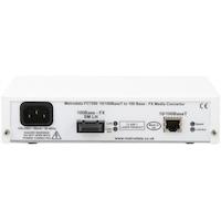Rear: FC7200: 10/100BaseT to 100BaseFX Ethernet Media Converter
