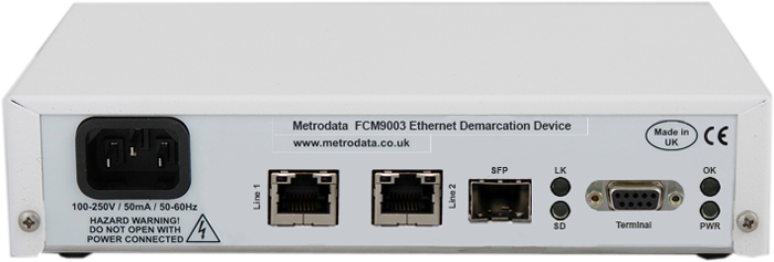 MetroCONNECT FCM9003 Ethernet Access Device - Rear
