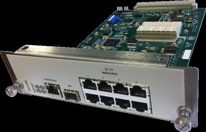 WCC1800 MetroCONNECT Ethernet over 8-port Fractional E1/T1 LAN Extension Module