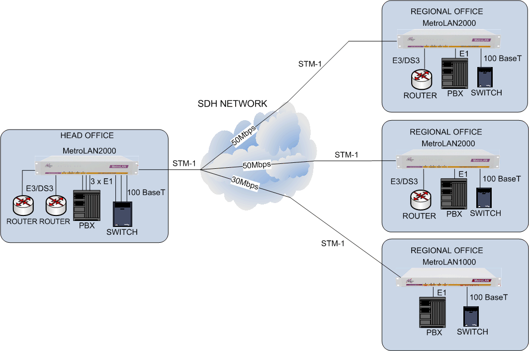 Multi-site Multi-service Delivery using the MetroLAN2000