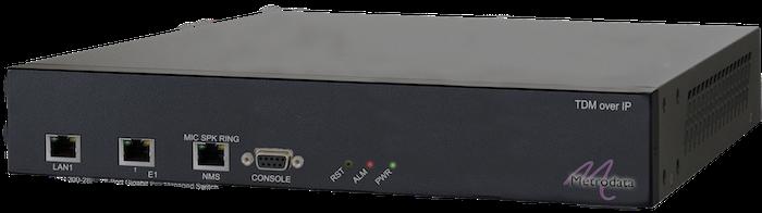 1 Port E1 TDM over IP: PacketLINK PL1100