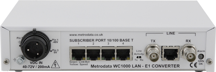 MetroCONNECT: WC1000 Entry Level Ethernet over E1 Extender