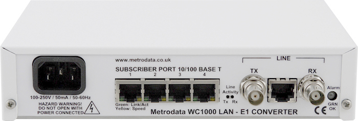 Front: WAN-in-a-CAN LAN Extension over Serial, E1, E3, DS3 leased lines
