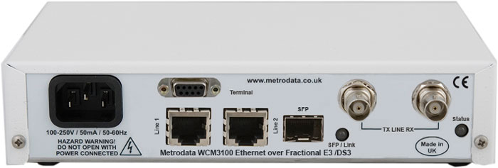 WCM3100: Ethernet Converter to E3 / DS3