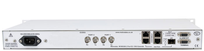 MetroCONNECT WCM3200: Ethernet Extender over 2x bonded E3 / DS3