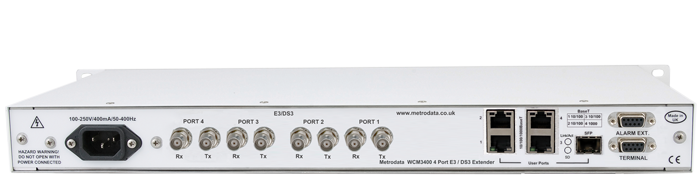 MetroCONNECT WCM3400: Ethernet Aggregator for 4x E3 / DS3