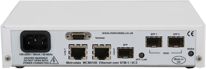 MetroCONNECT WCM5100: Gigabit Ethernet Converter to STM1 / OC3