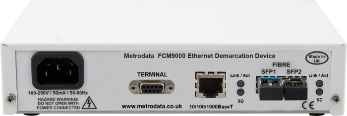 FCM9000 Ethernet Demarcation Device - Rear