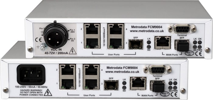FCM9004 Advanced Ethernet Demarcation Device - Rear