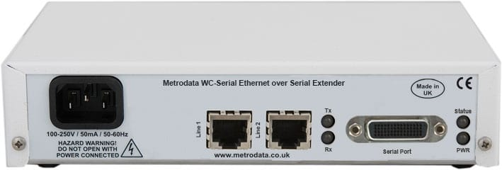 MetroCONNECT WC-Serial: Ethernet Converter to X.21,V.35,EIA-530 Serial