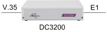 DC3200 as an E1 G703/G704 to Nx64kbps V35 converter