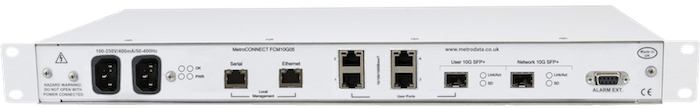 Rear: FCM10G05 Ethernet Demarcation Device