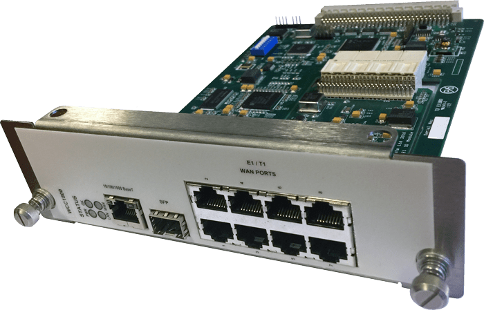WCC1800 MetroCONNECT Ethernet over 8-port Fractional E1/T1 LAN Extension Module