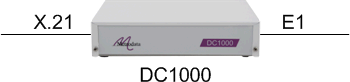 DC1000 as an E1 G703 to 2048Mbps X21 converter