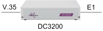 DC3200 as an E1 G703/G704 to Nx64kbps V35 converter