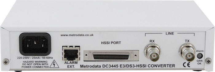 DC3445: E3 34Mbps / DS3 45Mbps to HSSI Interface Converter