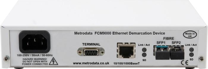 FCM9000 Ethernet Demarcation Device - Rear