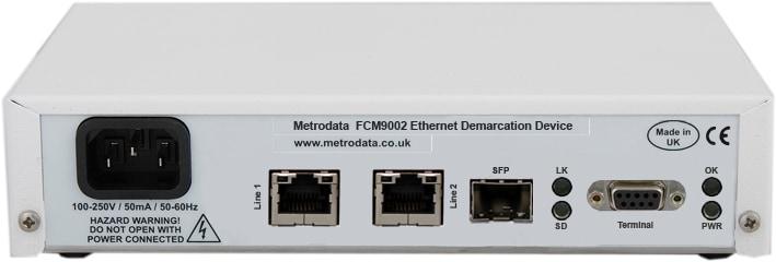 FCM9002 Ethernet Demarcation Device Rear