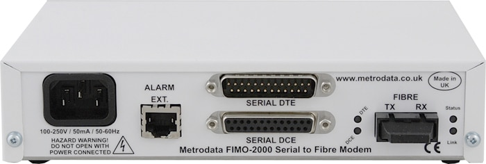 FIMO-2000: Serial to Multimode Fiber Optic Modem