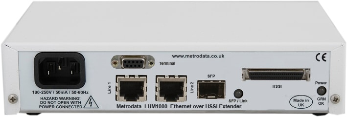 MetroCONNECT LHM1000: Ethernet Converter to HSSI Serial