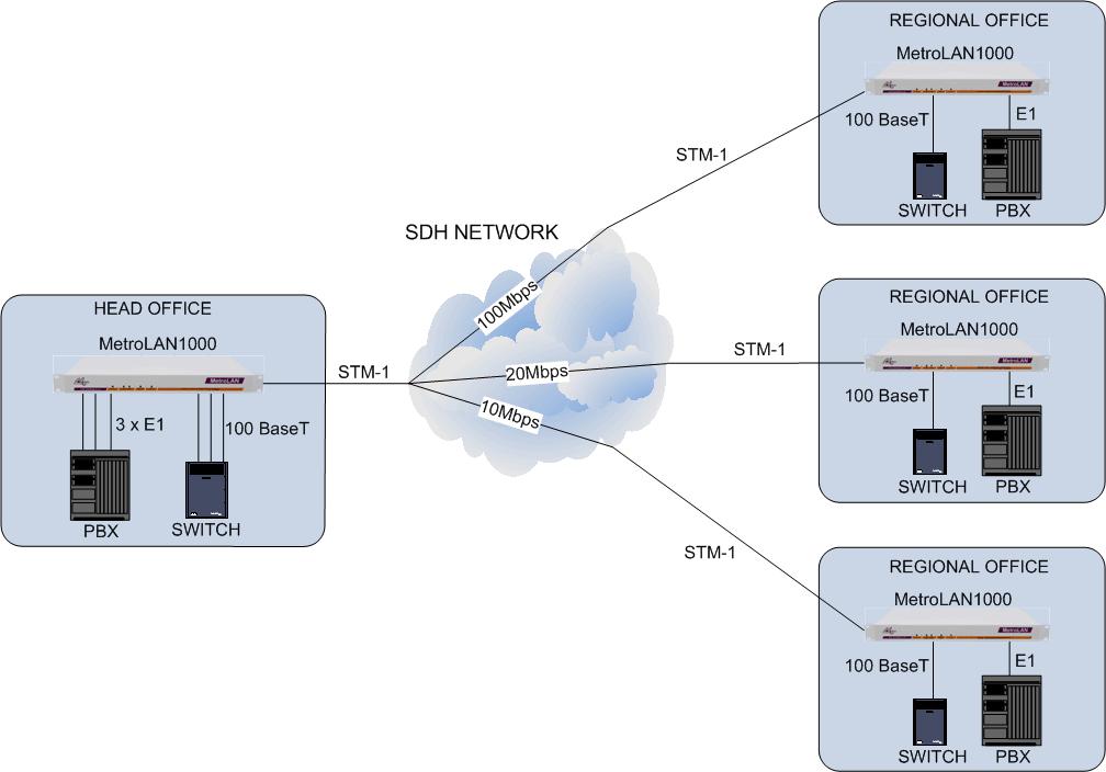 MetroLAN1000: Multi-service Delivery over SDH